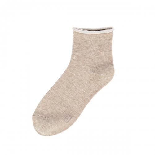 Roll Top Socks: BeigeSOCKSTAZ