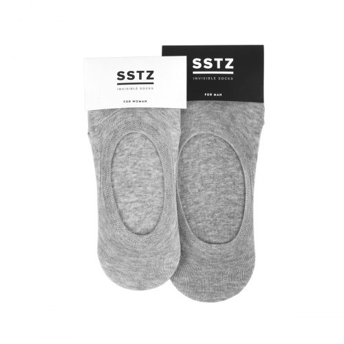 SSTZ INVISIBLE SOCKS : GRAY (2 SIZE)SOCKSTAZ