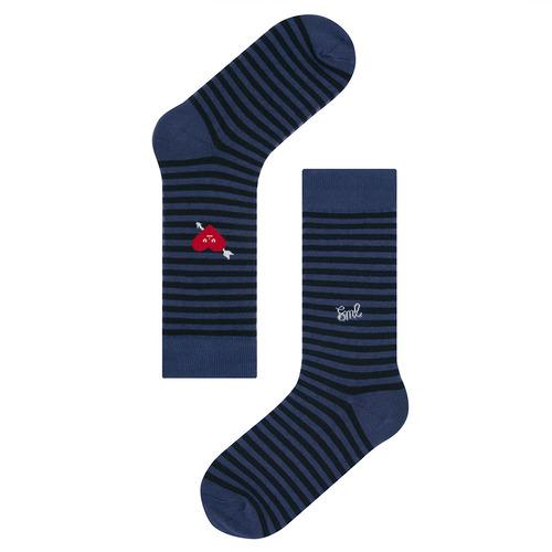 SML X socks appeal: heart navy stripeSocks Appeal