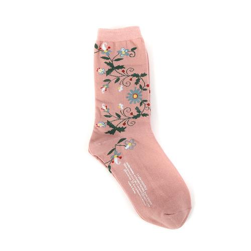 Rose socks-pink i hate Monday