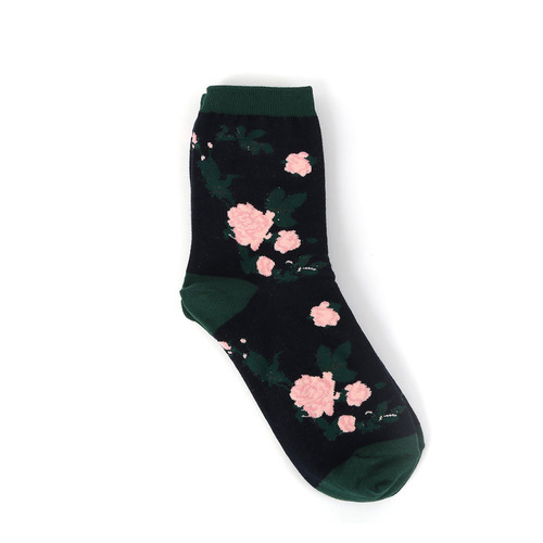 Rose socks-navyi hate Monday
